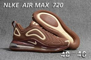 unisex nike air max 720 running chaussures brown